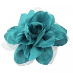 180650-AQ- AQUA COLOR FLOWER BROOCH