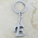 10030-E PLAIN INITIAL LETTER KEY CHAIN