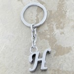 10030-H PLAIN INITIAL LETTER KEY CHAIN