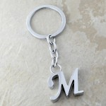 10030-M PLAIN INITIAL LETTER KEY CHAIN