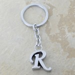 10030-R PLAIN INITIAL LETTER KEY CHAIN
