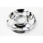 52544- PLAIN ROUND 5 SECTION CHIP N DIP /W GLASS