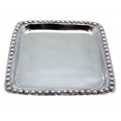 52549-BEADED SQUARE TRAY