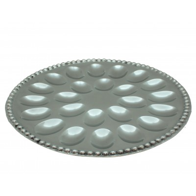 52556 - BEADED ROUND HOLD 24 DEVILED EGG TRAY