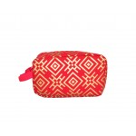 9228- RED & GOLD COSMETIC BAG
