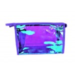 9171 -PURPLE HOLOGRAPHIC COSMETIC BAG