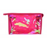9171 -HOT PINK HOLOGRAPHIC COSMETIC BAG