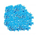 16SS -CARIBBEAN BLUE -CARIBBEAN BLUE RHINESTONE FLATBACK HOT FIX 1440 PCS. (10 GROSS)