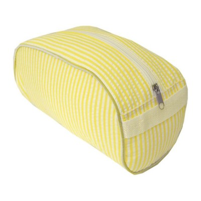 32714 - YELLOW COTTON SEERSUCKER COSMETIC BAG