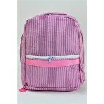 6008 - HOTPINK SEER SUCKER BACKPACK