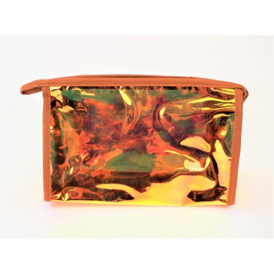9171 -ORANGE HOLOGRAPHIC COSMETIC BAG
