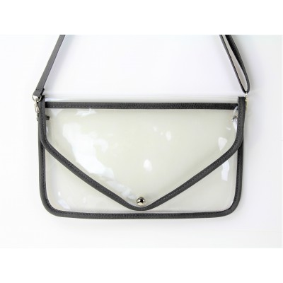 9167 -GREY LINING TRANSPARENT CLUTCH BAG