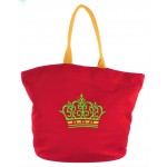 9211- RED CROWN CANVAS TOTE BAG