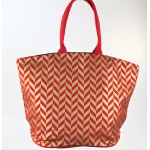 9201 - RED CANVAS TOTE BAG