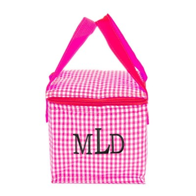 180936 - PINK & WHITE GINGHAM INSULATED LUNCH BAG