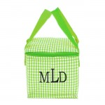 180938 - GREEN & WHITE GINGHAM INSULATED LUNCH BAG