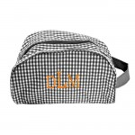 181017 - BLACK/WHITE GINGHAM COSMETIC BAG