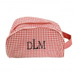 181018 - RED/WHITE GINGHAM COSMETIC BAG