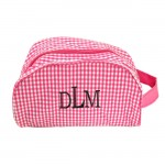 181019 - PINK/WHITE GINGHAM COSMETIC BAG