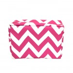 181222 - PINK & WHITE CHEVRON COSMETIC BAG