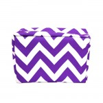 181224 - PURPLE & WHITE CHEVRON COSMETIC BAG