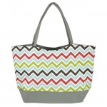 181257 - MULTI  CHEVRON PRINT SHOPPING OR BEACH BAG
