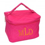 181214 - HOTPINK QUILTED COSMETIC BAG