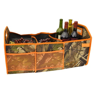 181282 - CAMOUFLAGE 3 SECTION FOLDABLE TRUNK ORGANIZER OR UTILITY BAG
