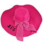 180893 - HOT PINK FLOPPY HAT W/ BOW ( MONOGRAM NOT AVAILABLE )
