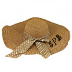 180895 - BROWN FLOPPY HAT W/ BOW ( MONOGRAM NOT AVAILABLE )