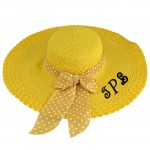180897 - YELLOW FLOPPY HAT W/ BOW ( MONOGRAM NOT AVAILABLE )