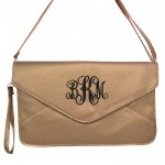32741 - COPPER LEATHER CLUTCH BAG