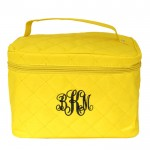 32768 - YELLOW QUILTED COSMETIC BAG