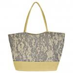 32781- GREY CAMOU SHOPPING OR BEACH BAG