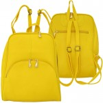 32783- YELLOW LEATHER FASHION BACKPACK BAG