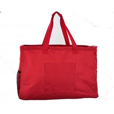12002- RED LARGE SHOPPING BASKET OR UTILITY BASKET