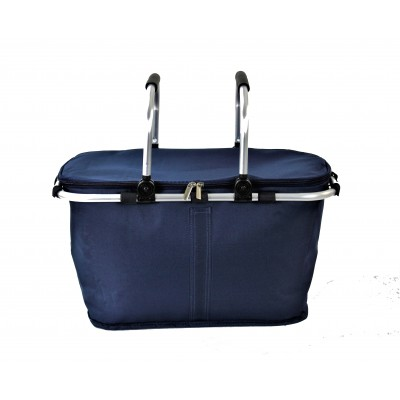 12008- NAVY INSULATED PICNIC BASKET