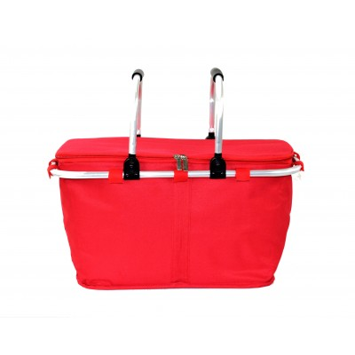 12008- RED INSULATED PICNIC BASKET