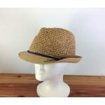 1803 - TAN-N-BLACK STRAW HAT