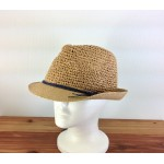 1803 - TAN-N-NAVY STRAW HAT