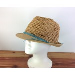 1803 - TAN-N-AQUA STRAW HAT