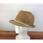 1803 - TAN-N-WHITE STRAW HAT