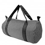 181012-BLACK/WHITE GINGHAM DUFFLE BAG