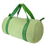 32683-LIME GREEN SEER SUCKER DUFFLE BAG