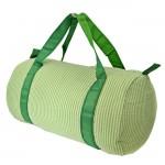 32683-LIME GREEN SEER SUCKER DUFFLE BAG