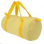 32687-YELLOW SEER SUCKER DUFFLE BAG