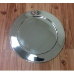 52539 - X-LARGE STAINLESS STEEL ROUND PLAIN TRAY