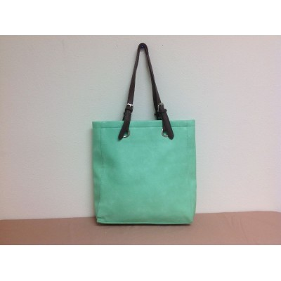 9033 - MINT  LEATHER SHOPPING BAG