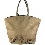 9202 - BROWN CANVAS TOTE BAG
