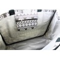 9219- GREY ELEPHANT CANVAS TOTE BAG